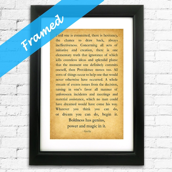 Gift For New Business Entrepreneur Gift Inspiring Quotation Framed Print