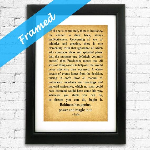 Gift For New Business Entrepreneur Gift Inspiring Quotation Framed Print
