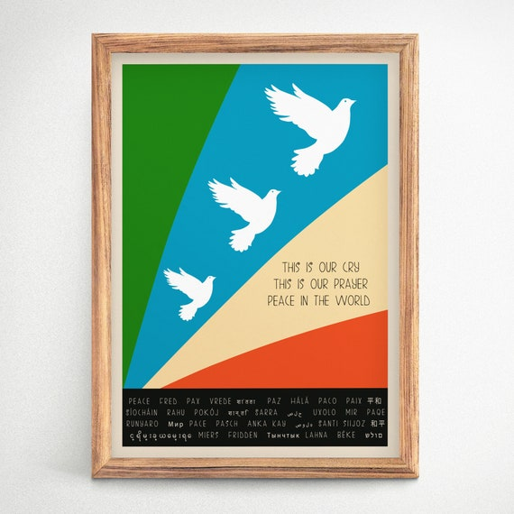 Peace Poster 1965 Dove