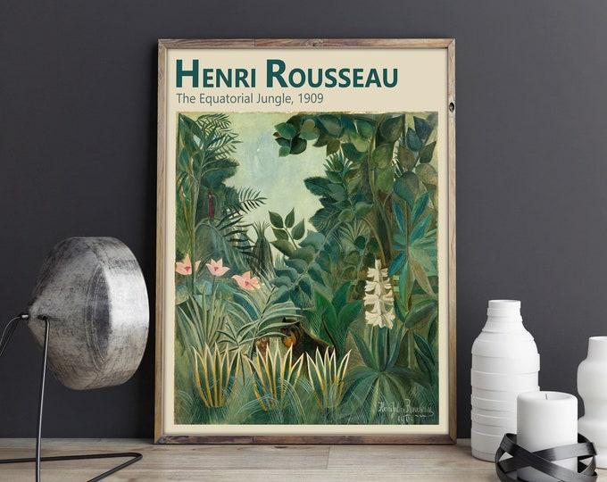 Plant Print by Henri Rousseau The Equatorial Jungle Plant Decor Print