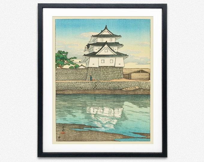Japanese Poster Traditional Woodblock Print Japan Art