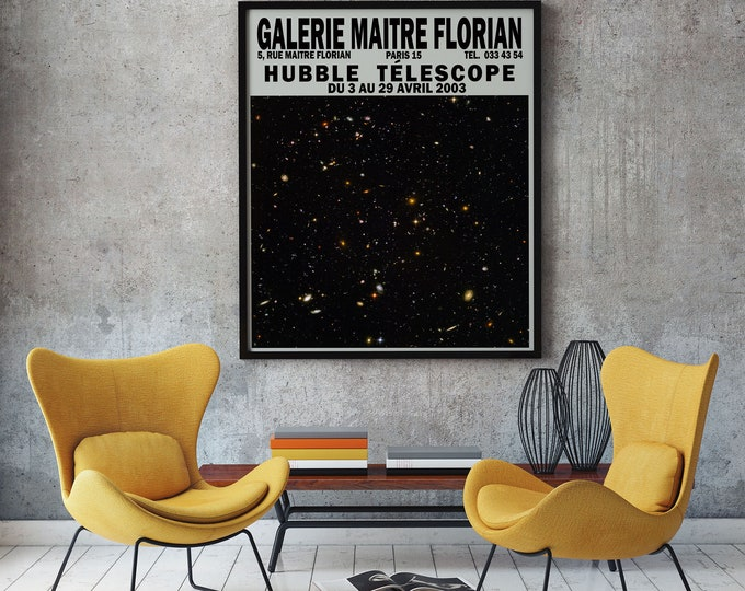Hubble Telescope Exhibition Poster Space Poster Art