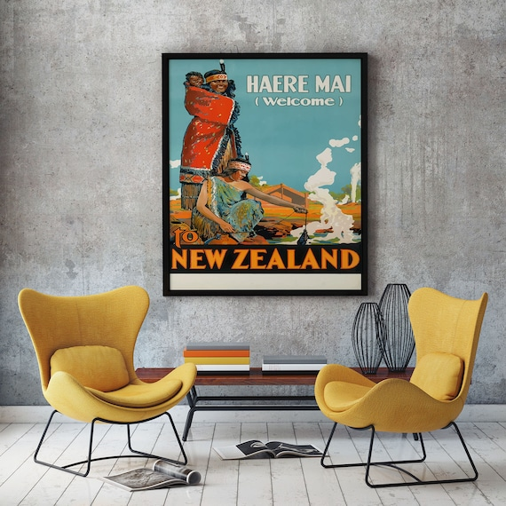 New Zealand Travel Poster New Zealand Travel Print