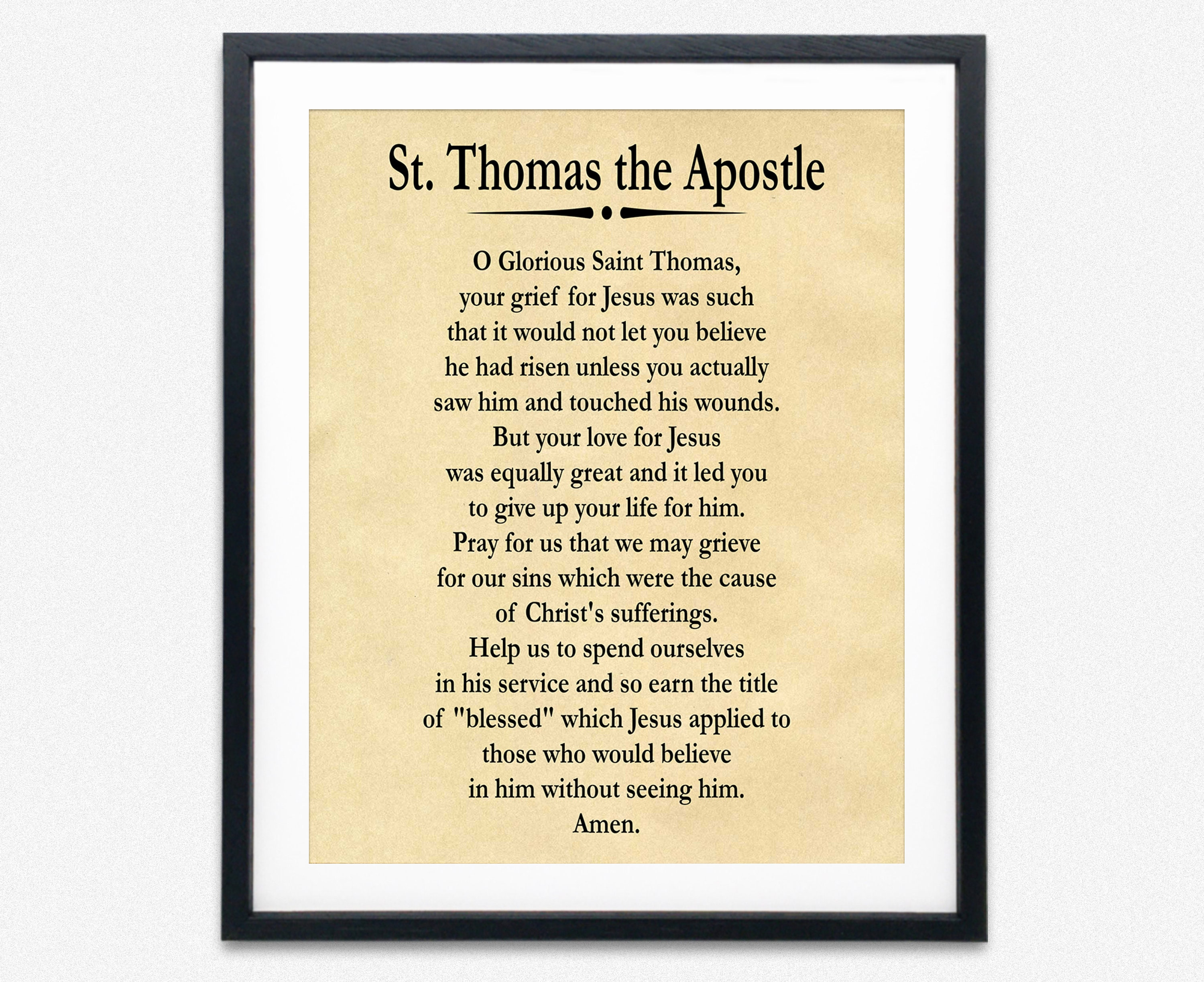 Prayer of St Thomas the Apostle Prayer for Direction and Discernment
