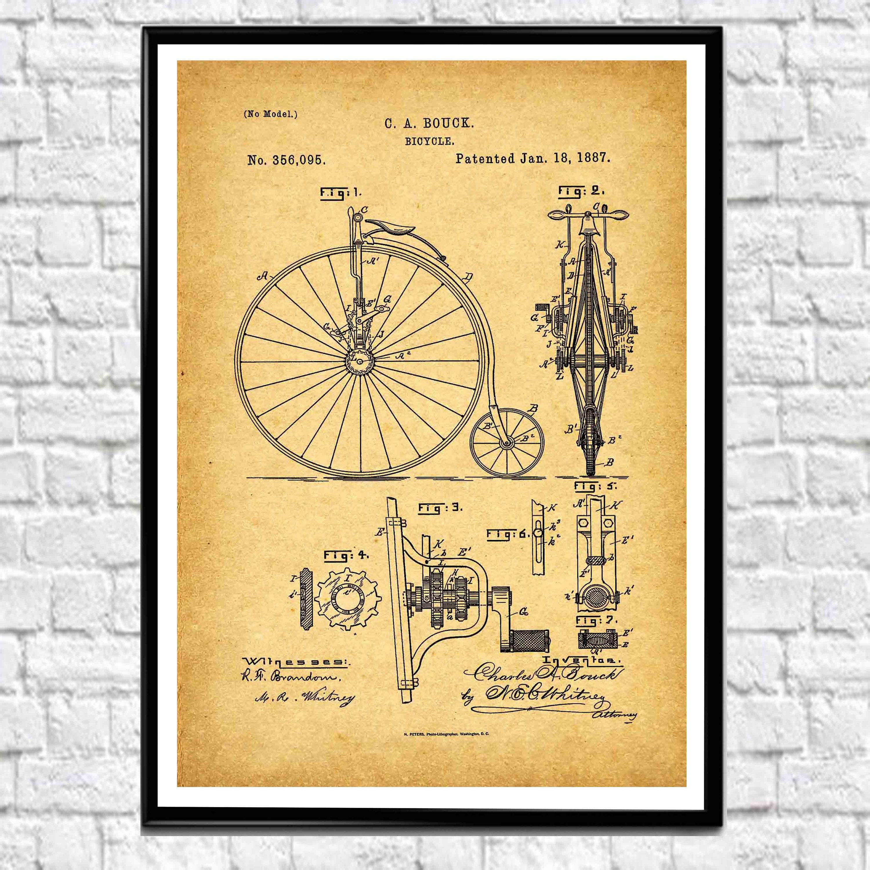 Vintage Bicycle Posters Bicycle Wall Art Bicycle Prints Bicycle ...