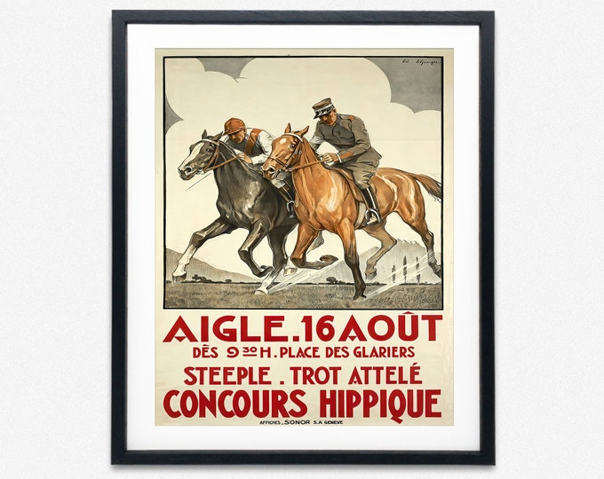 Rare Horse Show Exhibition Poster 1934 Vintage Horse Print