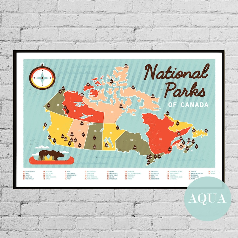 Canadian National Parks Map of Canada Banff National Jasper National