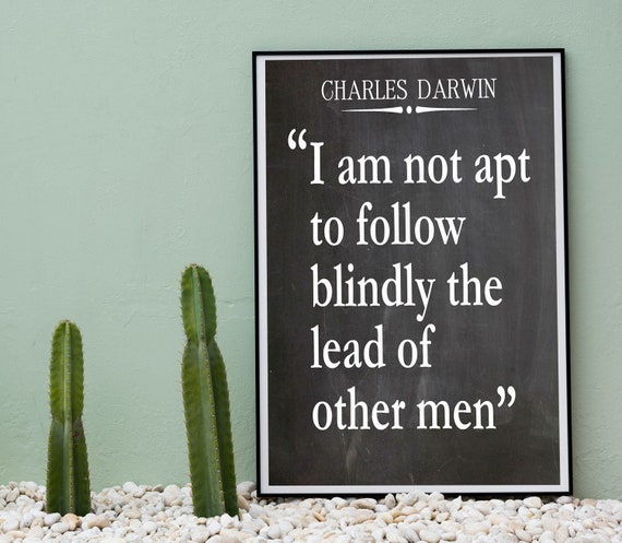Charles Darwin Quote On the Origin of Species Quote Belief Quote
