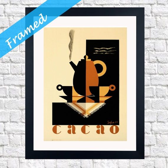 Framed Vintage Coffee Advert 1926 Cacao Print Framed Coffee Gift