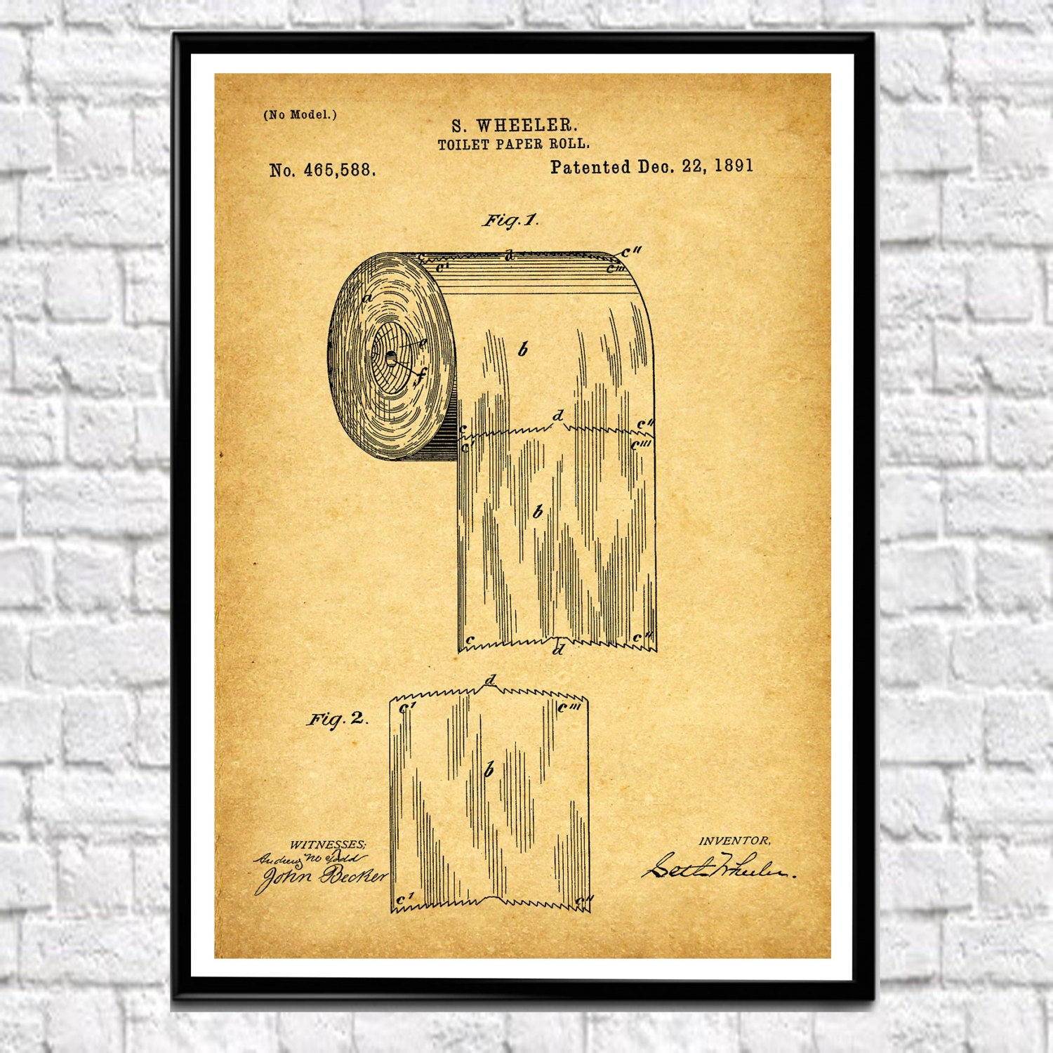 Bathroom Print Toilet Paper Bathroom Wall Art Bathroom Poster Toilet ...