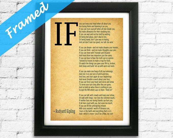 IF poem Framed Print by Rudyard Kipling