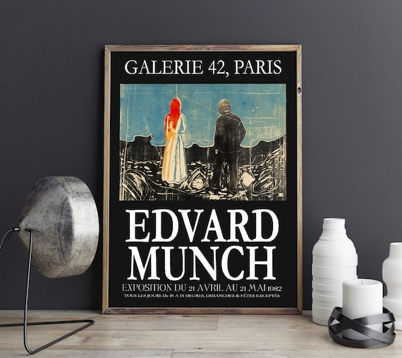 Edvard Munch Exhibition Poster Museum Poster