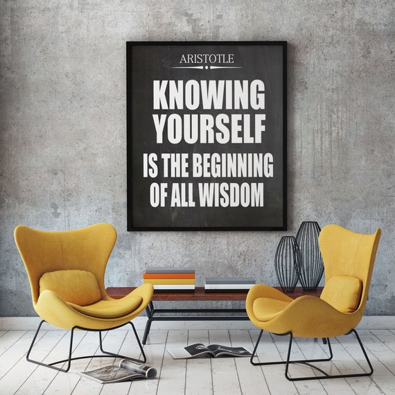 Aristotle Know Yourself Self Awareness Quote