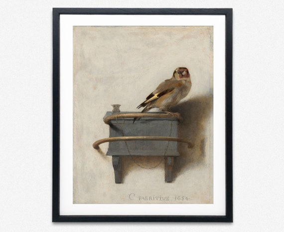 Goldlfinch Painting by Carel Fabritius Goldfinch Art Goldfinch Print