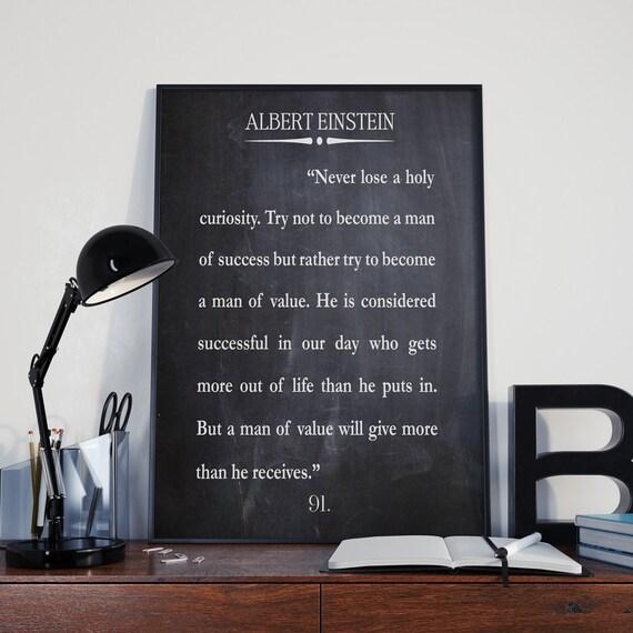Albert Einstein Quote Success Quote Man of Value Quote