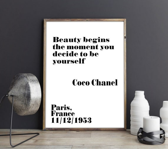 Self Care Gift for Girl Coco Chanel Print Self Care Quote Coco Chanel Poster