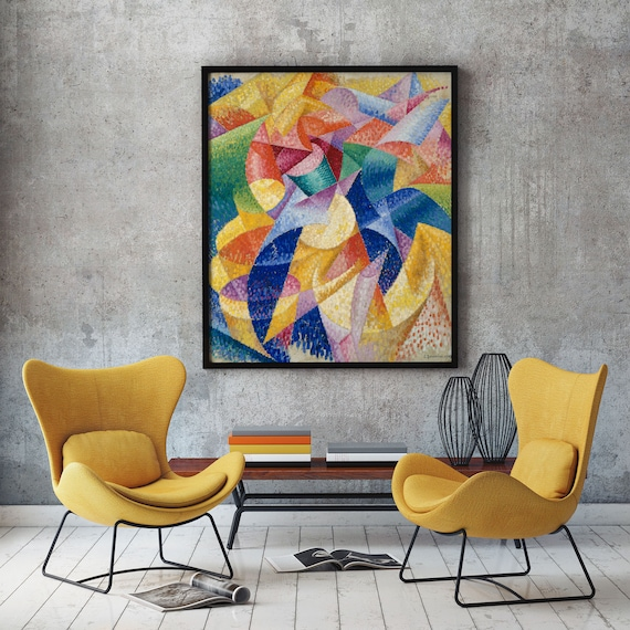 Abstract Print Abstract Wall Art Abstract Poster Modern Painting Modern Art Print Large Painting Large Wall Art Gino Severini Sea Dancer Art
