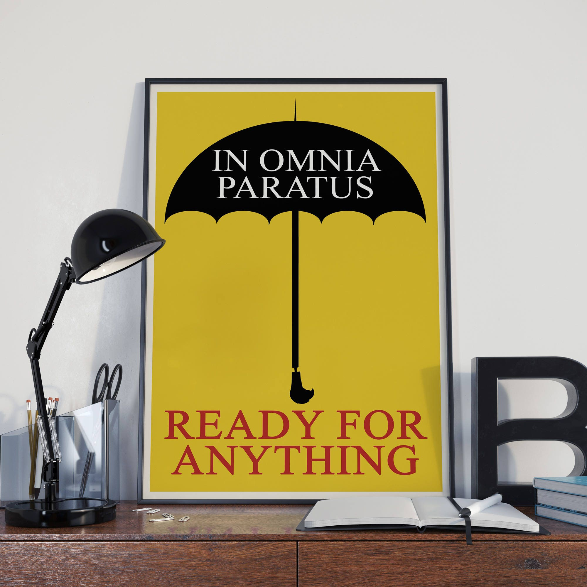 In Omnia Paratus Poster Ready For Anything Print Latin Quote Poster ...