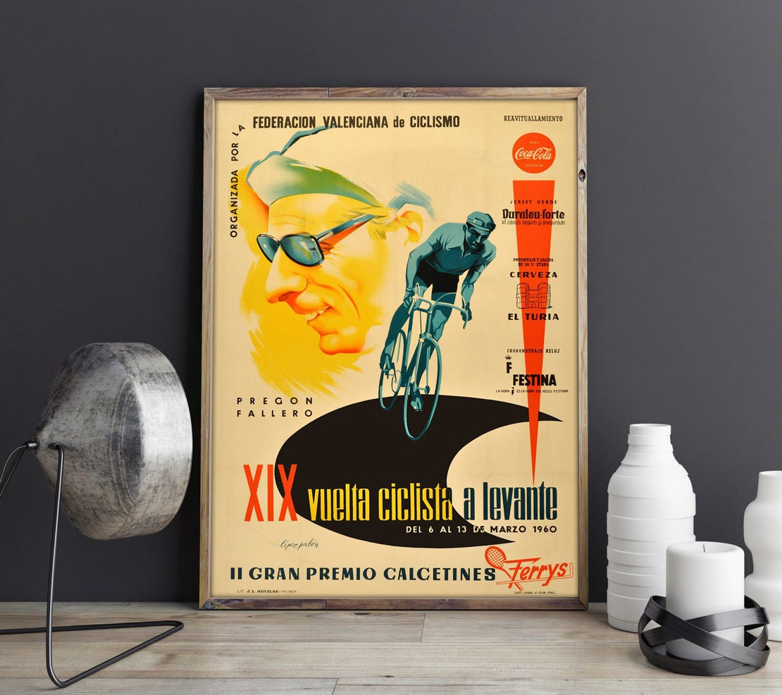 Tour de France Poster Gift for Cyclist Cycling Poster Cycling Wall ...