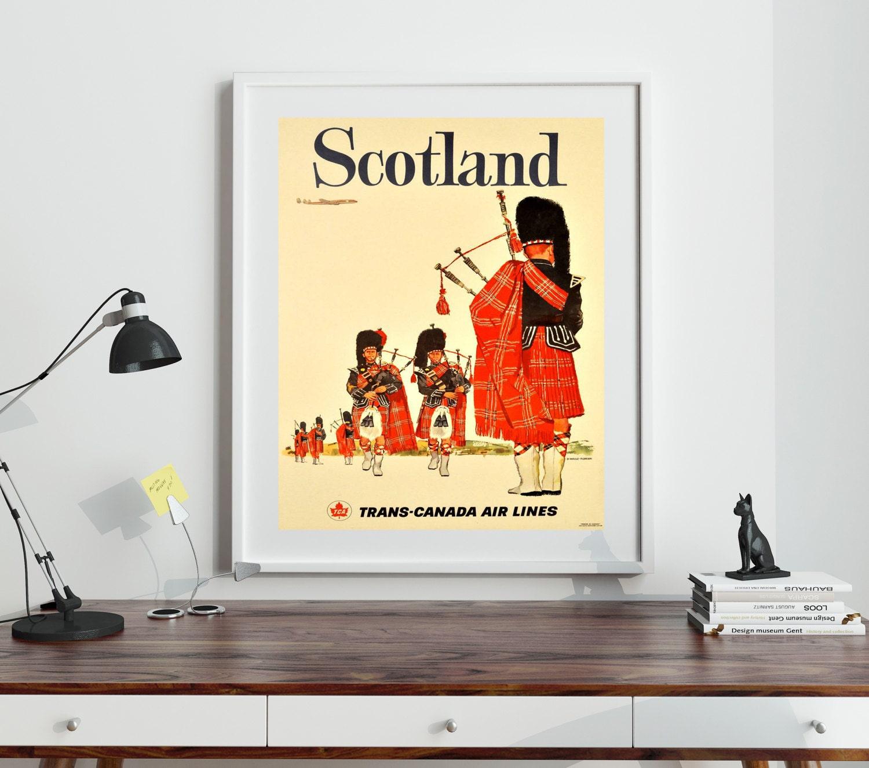 Scotland Poster Scottish Wall Art Scotland Travel Poster Scottish ...