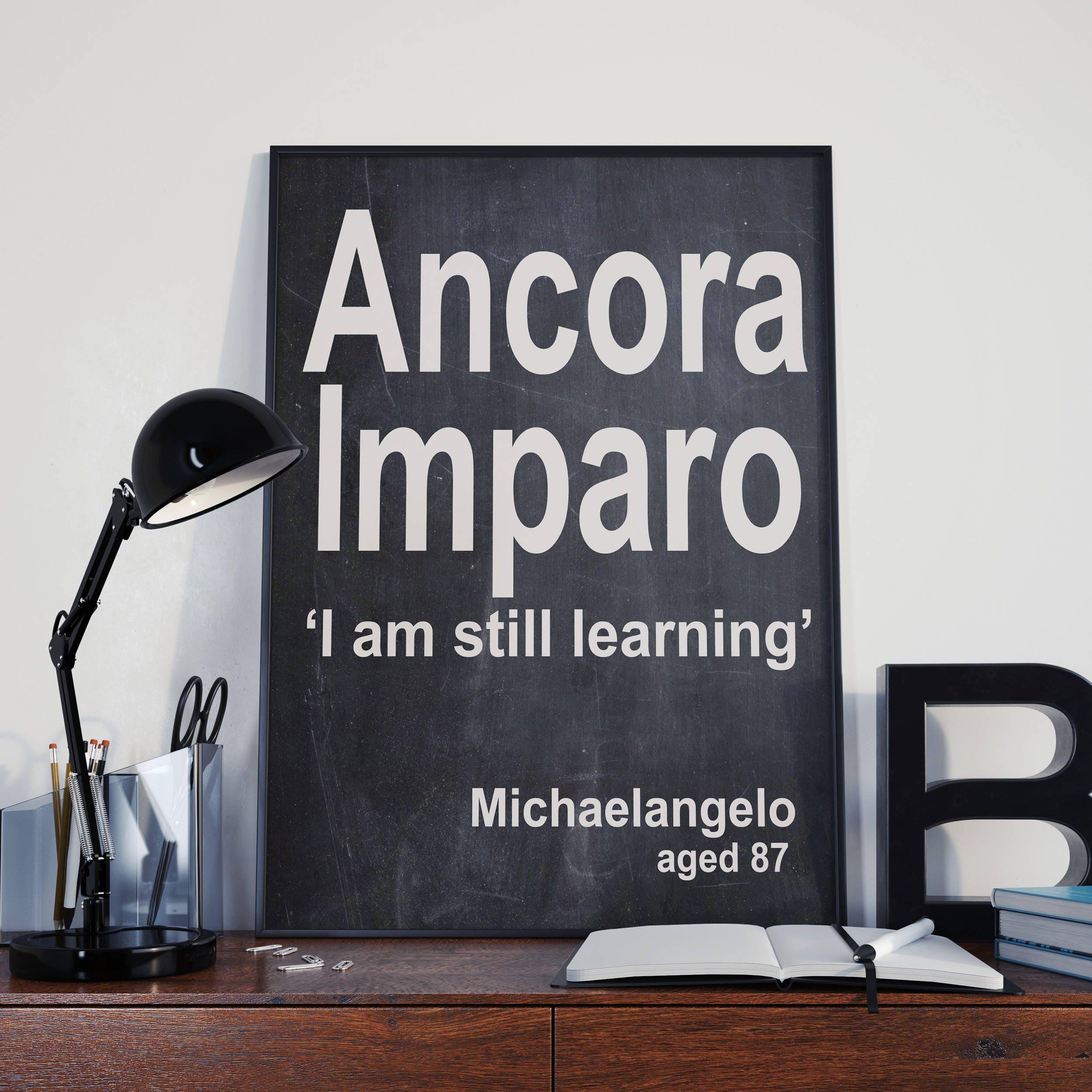 Michelangelo Zitat Ancora Imparo bin ich immer noch lernen