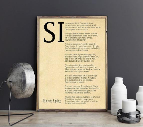 Si Par Rudyard Kipling Poème En Français