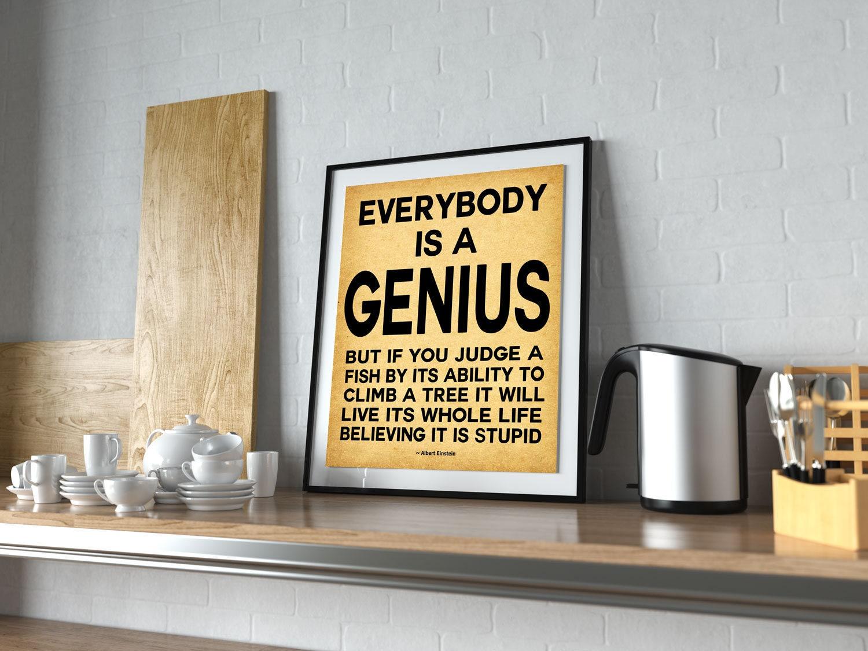 Choose your Size A4 A3 A1 Albert Einstein Canvas Print 20x30 or 16x20 inch