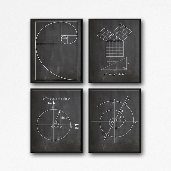 Math Gift Poster Set of Math Posters For Math Student WB210