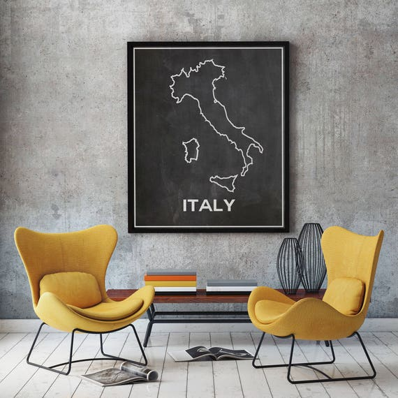 Italy Map Wall Art.Map Wall Art Wallartem Prints