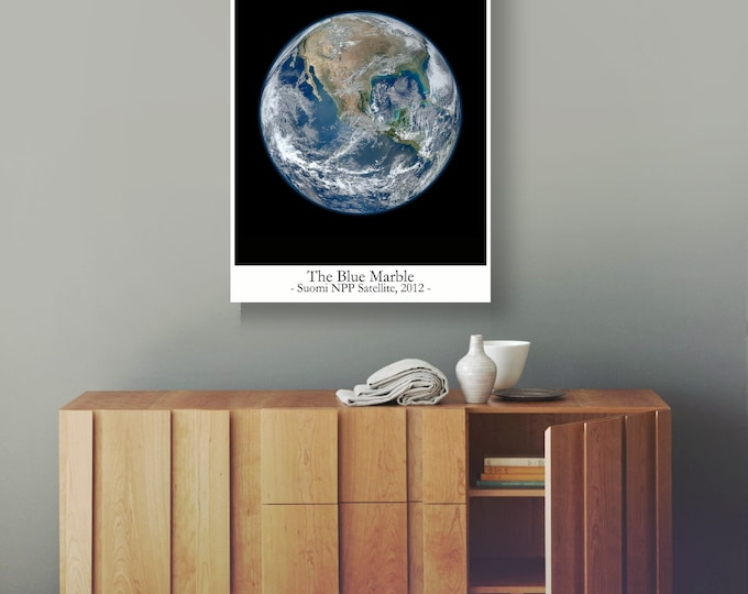 The Blue Marble Photo 2012 Earth From Space Poster