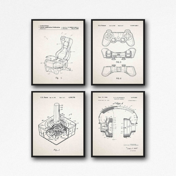 Video Game Posters Set of 4 Gaming Posters WB519-WB522-4F