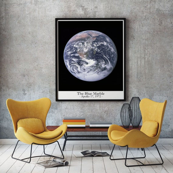 The Blue Marble Photo 1972 Apollo 17 Spacecraft Earth photo Earth Poster