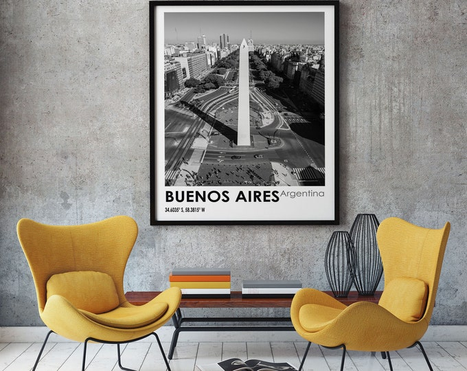 Buenos Aires Travel Poster Buenos Aires Photo Print Travel Art