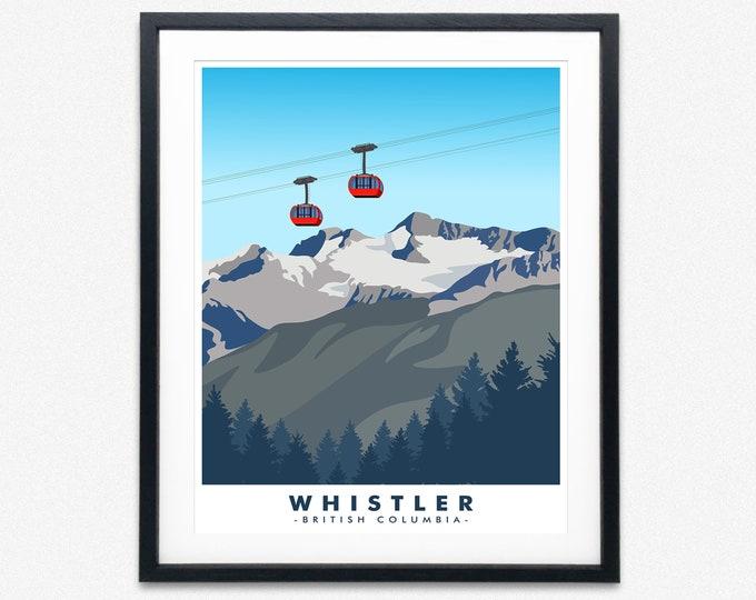 Whistler National Park Poster Canadian National Park Art