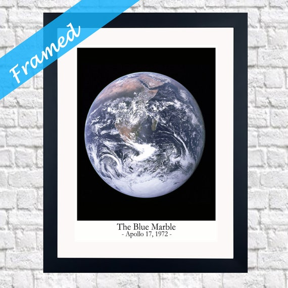 Framed Space Print The Blue Marble Photo 1972 Framed Gift