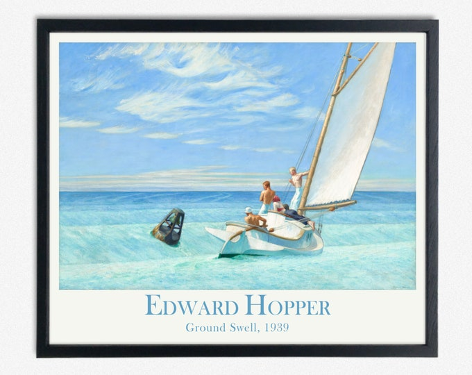 Edward Hopper Painting Ground Swell Nautical Poster Seascape Poster
