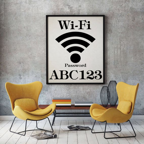 WiFi Password Wifi Password Print Wifi Sign Wifi Home Wifi Password Sign Guest Room Decor Guest Room Print Wifi Poster 50 x 70 Poster Art
