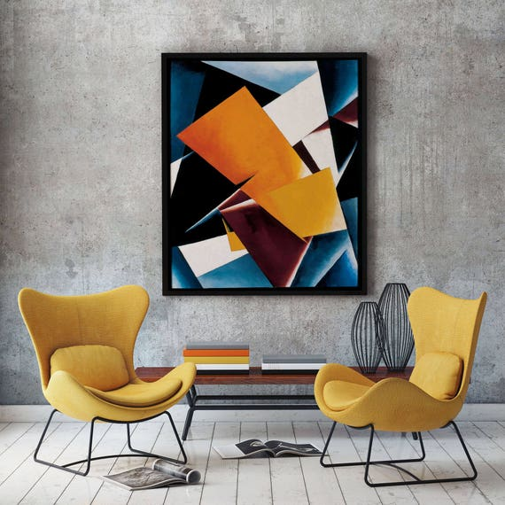 Modern Abstract Oil Painting Painterly Architectonics by Lyubov Popova 1918 Abstract Art Abstract Wall Art Abstract Decor Abstract Paintings