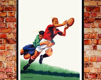 Rugby Poster Rugby Print Rugby Decor Rugby Wall Art Rugby Art Print (available in 5x7, 8x10, A4, 11x14, 12x16, 16x20, 18x24, 50cmx70cm)