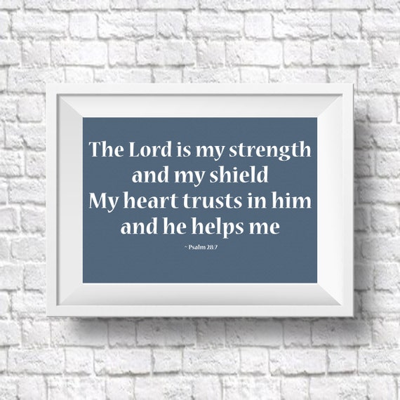 Psalm Quote Bible Quote Bible Verse Motivational Art Print