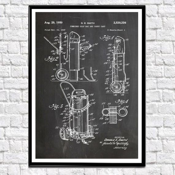 Golf Bag Patent Print Golf Gift for Golfer Gift for Caddie Golf Course Wall Art Golf Club Poster Golf Poster Golf Print Golf Art Golf  WB195