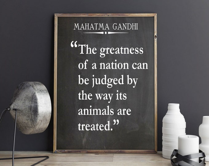 Animal Welfare Quote by Mahatma Gandhi Quotation