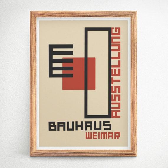 Bauhaus Ausstellung Poster Bauhaus Expo 1923 Large Bauhaus Poster