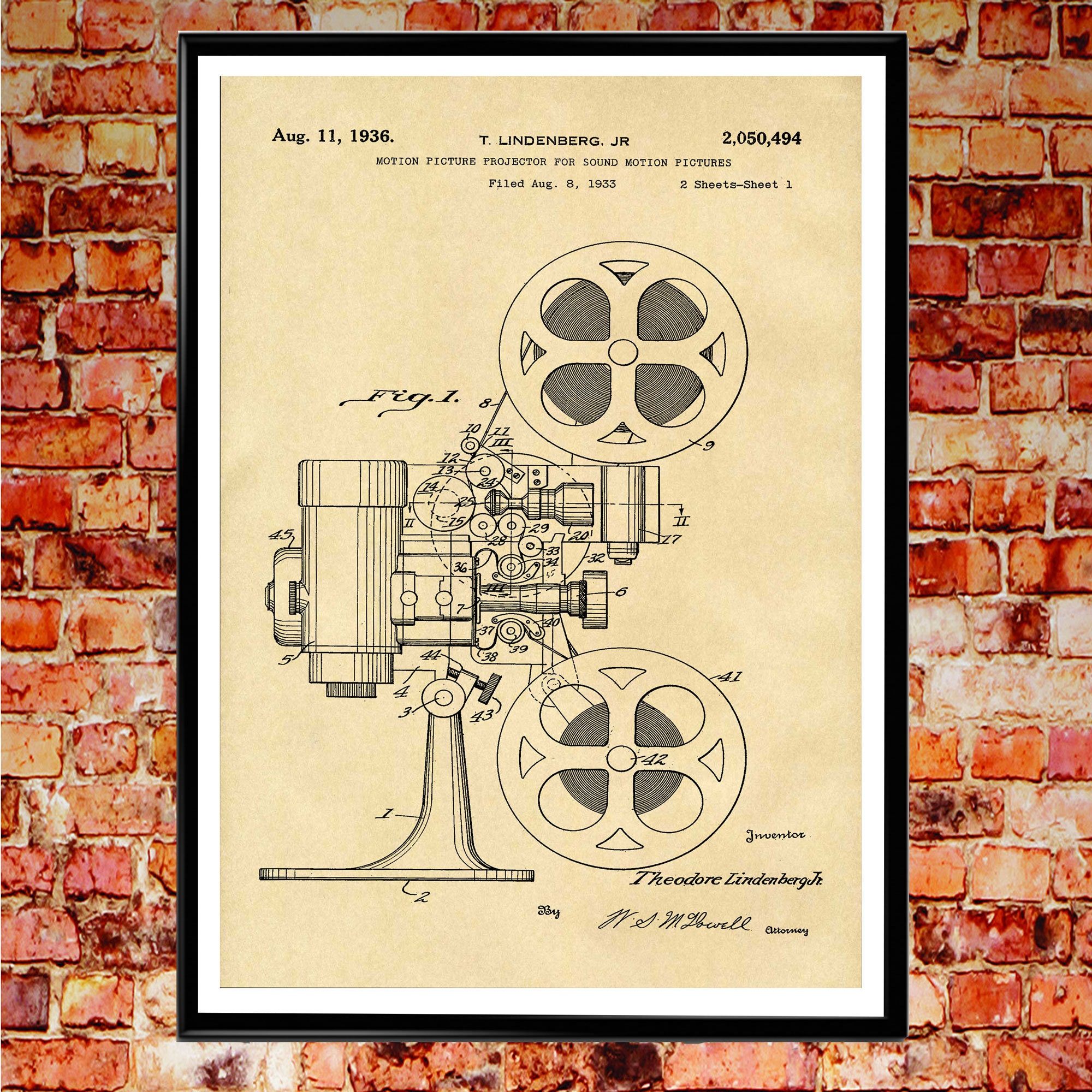 Movie Room Decor Movie Camera Patent Poster Movie Blueprint Wall Art ...
