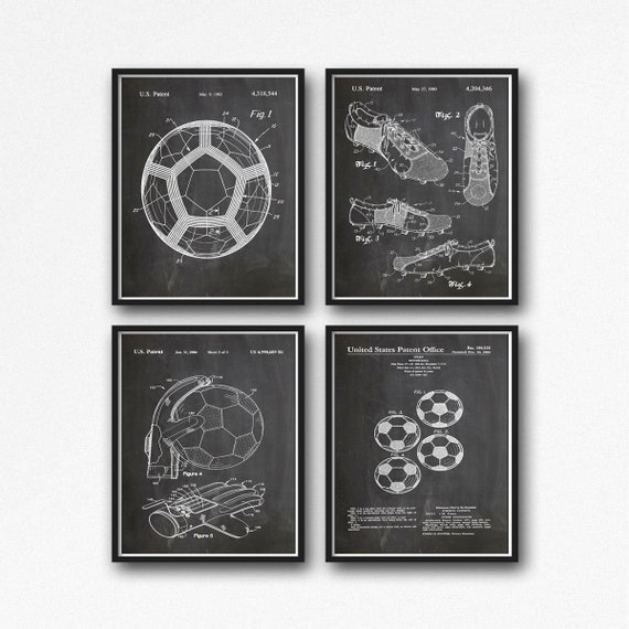 World Cup Poster Set of World Cup Soccer Prints Set of 4 Football Prints Soccer Gift Soccer Coach Gift Football Decor Soccer Decor WB071