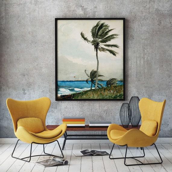 Palm Tree Nassau by Winslow Homer 1898 Palm Tree Decor Palm Tree Painting Winslow Homer Painting Winslow Homer Art Beach Painting Beach Art