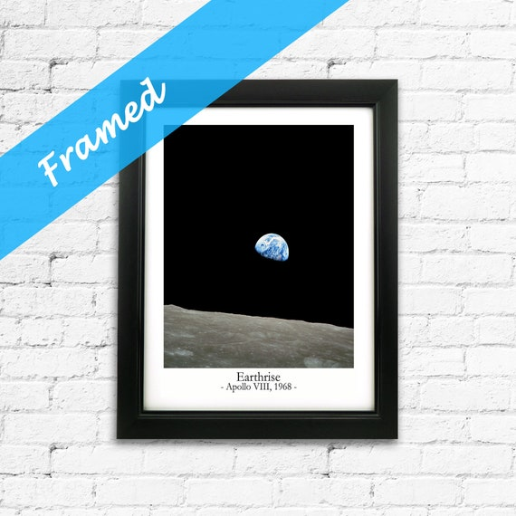 Earthrise Photo Framed Space Wall Art Ready Framed Space Print