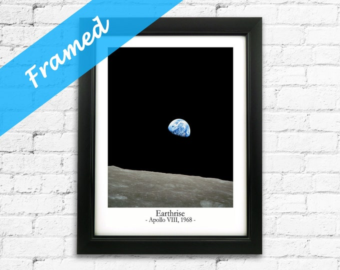Earthrise Photo Framed Space Wall Art Ready Framed Space Print