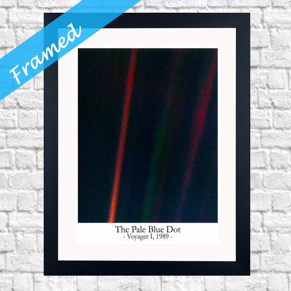 Pale Blue Dot Framed Photo Framed House Warming Gift
