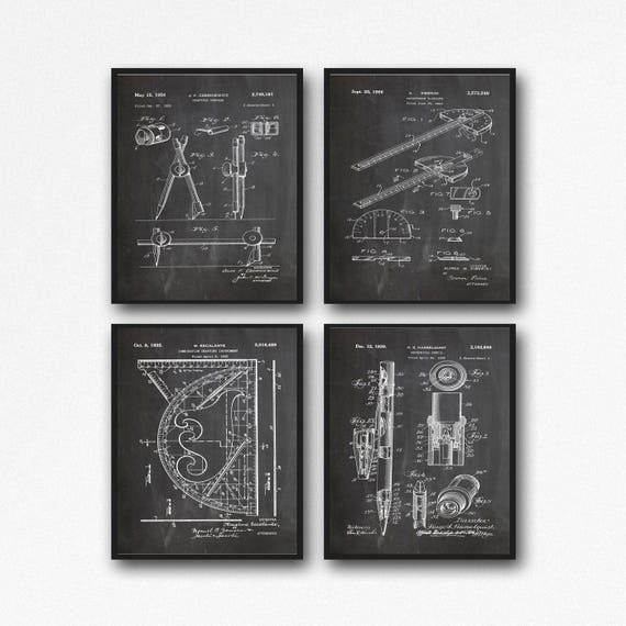 Gift for Architect Poster Architect Print Architect Wall Art Architecture Gift Architecture Prints Architect Patents Architect Gift WB227